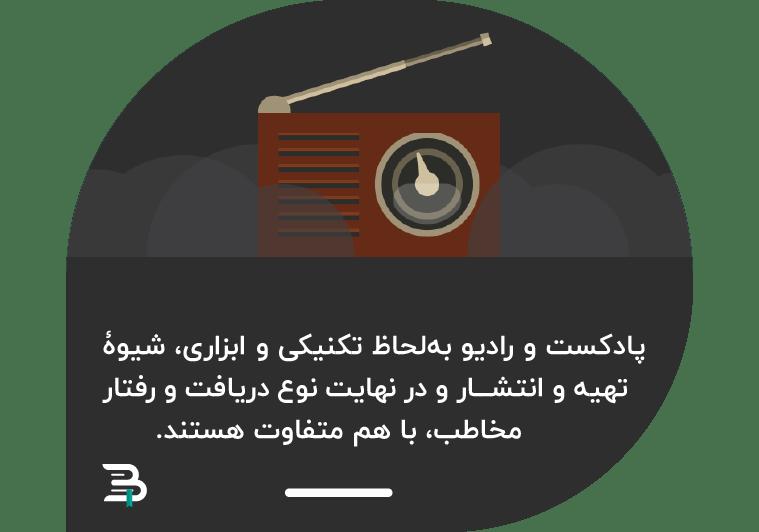 تفاوت پادکست و رادیو